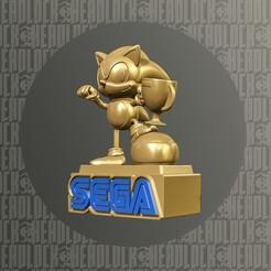 sonic.jpg Download STL file The Legendary Sonic F1 Trophy • 3D printable template, headlock3d