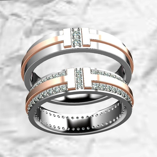 WDR0001.jpg Download STL file WEDDING RING • 3D print template, mailchuamailchua