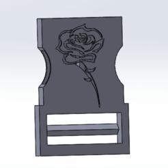gykvj.png Télécharger fichier STL clip attache rose  • Plan à imprimer en 3D, le-padre