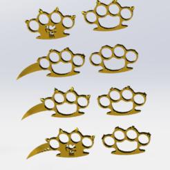 Télécharger fichier STL pack de 8 poing américain  • Objet pour imprimante 3D, le-padre