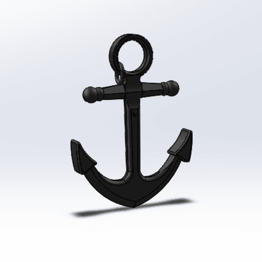 Download free 3D printing templates pirate anchor, le-padre