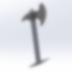 Télécharger fichier STL gratuit Hache porte clés  • Modèle pour imprimante 3D, le-padre