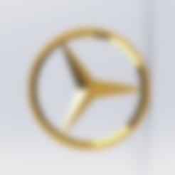 Descargar modelos 3D gratis llavero con el logo de mercedes, le-padre