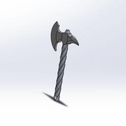 dths db.png Télécharger fichier STL gratuit Hache porte clés  • Modèle pour imprimante 3D, le-padre