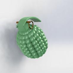 Descargar modelos 3D gratis llavero de granada, le-padre
