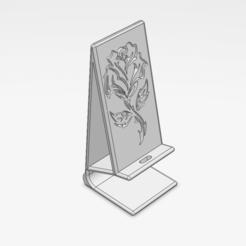 Imprimir en 3D gratis base telefónica (rosa navideño), le-padre