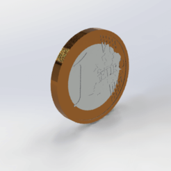 Download free STL file 1-euro coin • Template to 3D print, le-padre