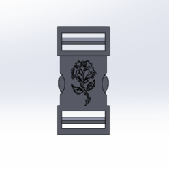 Télécharger modèle 3D clip attache rose , le-padre