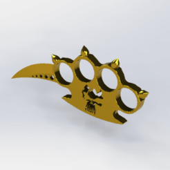 Télécharger fichier STL poing Américain   • Objet pour imprimante 3D, le-padre