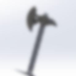 hache 2.STL Télécharger fichier STL gratuit Hache porte clés  • Modèle pour imprimante 3D, le-padre