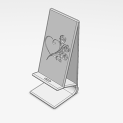 Download free 3D printer templates telephone stand (christmas love), le-padre