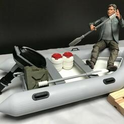 341D0632-62B0-4203-8DE3-3E78B9AD4A95.jpeg Download STL file RC 1/10 ZODIAC Inflatable Boat without trailer SCALE • 3D printer template, FredRcScale