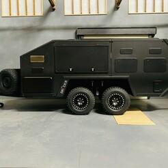 CED037F2-C826-4D81-9CF4-0828ACA50DEC.jpeg Download STL file Rc 1/10 scale trailer Bruder EXP-6 off-road caravan • 3D print object, FredRcScale