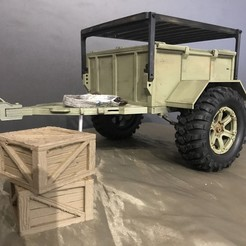 ECEE6910-FA49-4C4F-A05E-B84DC3A4115C.jpeg Download STL file RC 1/10 TRAILER TRIAL XL SCALE OFF-ROAD / All-terrain trailer • 3D printable design, FredRcScale