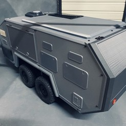 1FABC0A4-D493-41BA-B179-E54A9EAD0D42.jpeg Download STL file Rc 1/10 scale trailer Bruder EXP-6 off-road caravan • 3D print object, FredRcScale