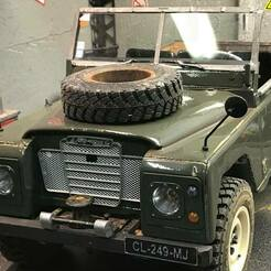 42556182_2108150692833844_8601048103346241536_o.jpg Download STL file RC 1/10 SCALE land rover kit Serie 3 Grille++ /calender++ • 3D printing model, FredRcScale