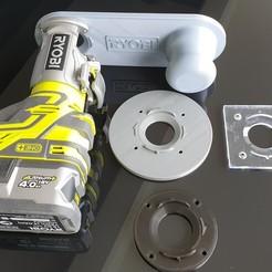 20200508_153618.jpg Download STL file Ryobi - AEG (R18TR - BOF18BL) trimmer stand • 3D printable object, fcdrik