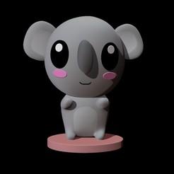 koala front.jpg Download OBJ file koala - cute • 3D printing model, Paola23