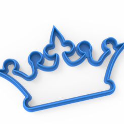 untitled.152.png Download STL file crown cookie cutter • Template to 3D print, emilianobene94