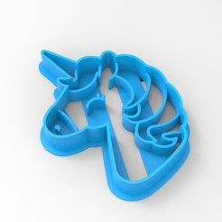 Descargar diseños 3D UNICORNIO UNICORN COOKIE CUTTER CORTADOR GALLETA, emilianobene94
