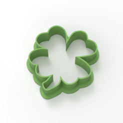 untitled.182.png Download STL file 4 leaf clover • 3D print object, emilianobene94