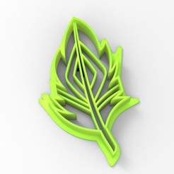 untitled.126.jpg Download STL file feather cookie cutter • 3D printer object, emilianobene94