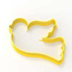 untitled.169.png Download STL file pigeon cookie cutter • 3D printable model, emilianobene94
