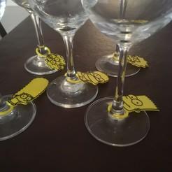 IMG_20201026_174254.jpg Télécharger fichier STL Identificateurs de verres à vin Identificateurs de tasses • Modèle imprimable en 3D, emilianobene94