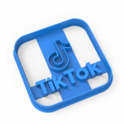 untitled.151.png Download STL file TIK tok cookie cutter • Object to 3D print, emilianobene94