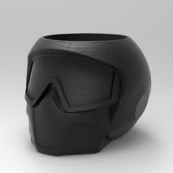 Download STL files Motorcycle helmet pen holder matt, emilianobene94