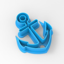 Download STL file ANCHOR COOKIE CUTTER ANCHOR, emilianobene94