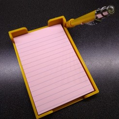 Download STL file 3M Post-it 4X6 with pen holder • 3D print object, Hitman2020