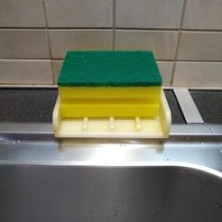 Download STL file Kitchen Sponge Dish • 3D printer design, Hitman2020
