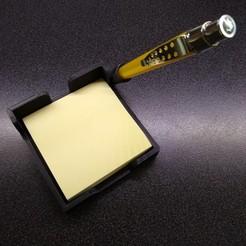Descargar modelos 3D 3M Post-it 3X3 con portalápices, Hitman2020