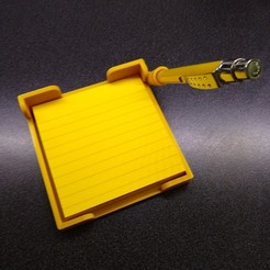 Download STL file 3M Post-it 4X4 with pen holder • 3D printable template, Hitman2020