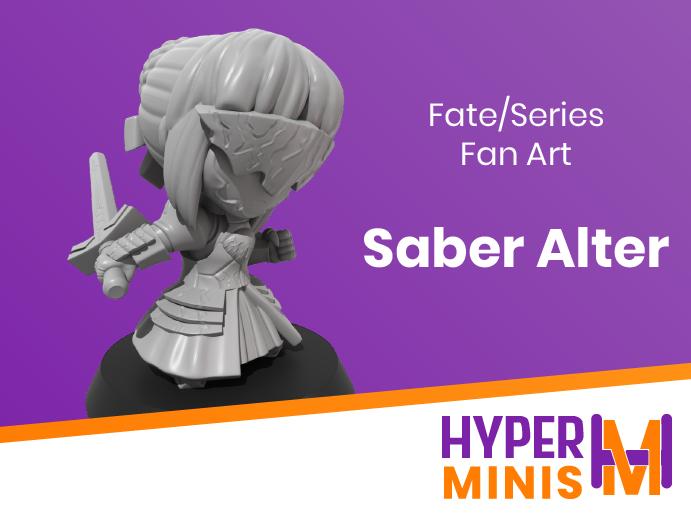 Chibi_Saber_Alter.png Download free STL file Chibi Saber Alter • 3D print model, HyperMiniatures