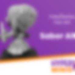 Hyper_Minis_Base.stl Télécharger fichier STL gratuit Chibi Saber Alter • Design pour impression 3D, HyperMiniatures