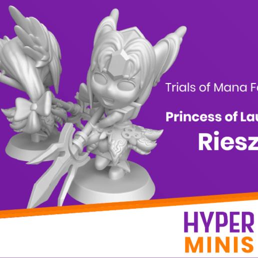 Download free STL file Chibi Riesz | Trials Of Mana (Seiken Densetsu 3) • 3D printer template, HyperMiniatures