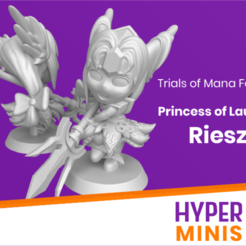 Princess_of_Laurent_Riesz.png Download free STL file Chibi Riesz | Trials Of Mana (Seiken Densetsu 3) • 3D printer template, HyperMiniatures