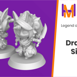 Dragoon_Sierra_1.png Download free STL file Chibi Sierra | Legend of Mana • 3D printing model, HyperMiniatures