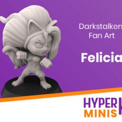 Chibi_Felicia.png Télécharger fichier STL gratuit Chibi Felicia | Darkstalkers Fan Art • Objet à imprimer en 3D, HyperMiniatures