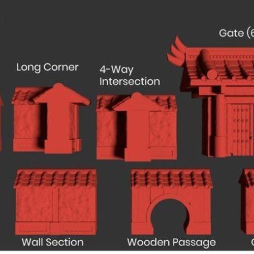 Japanese Gate Render Pieces.jpg Download STL file Modular Magnetic Japanese Gate • 3D print model, HyperMiniatures