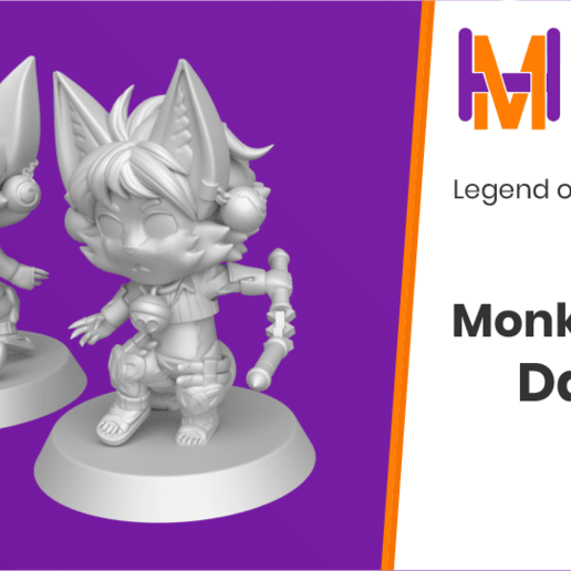 Download free STL file Chibi Daena | Legend of Mana • 3D printer model, HyperMiniatures