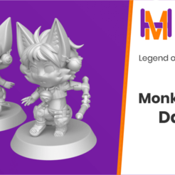 Download free STL file Chibi Daena | Legend of Mana • 3D printer model, HyperMiniatures