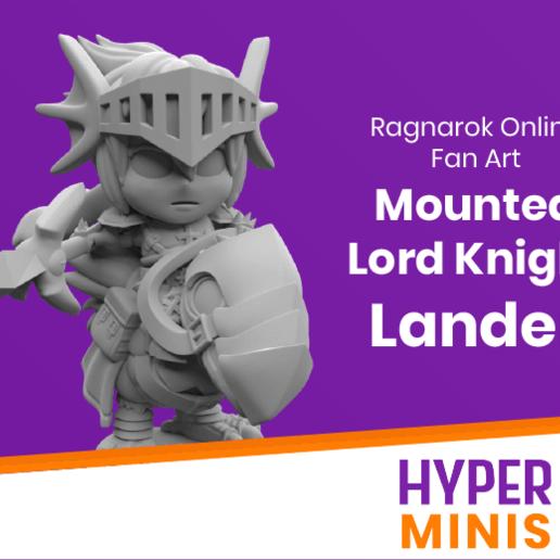 Impresiones 3D gratis Chibi Lord Knight Lander | Ragnarok Online Fan Art, HyperMiniatures