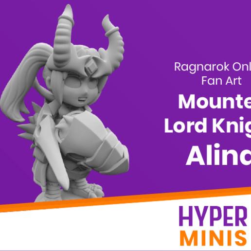 Télécharger modèle 3D gratuit Chibi Mounted Lord Knight Knight Alina, HyperMiniatures