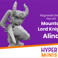 Download free STL file Chibi Mounted Lord Knight Alina • 3D printable object, HyperMiniatures