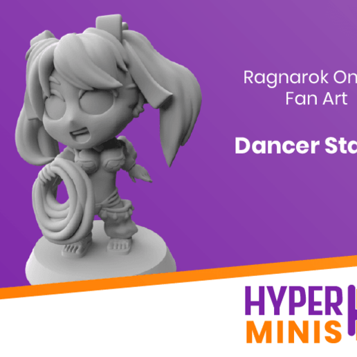 Download free 3D printer designs Chibi Dancer Stacia, HyperMiniatures