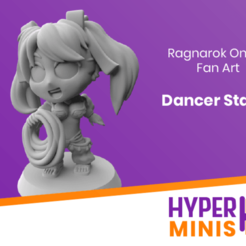 Download free STL file Chibi Dancer Stacia • Design to 3D print, HyperMiniatures