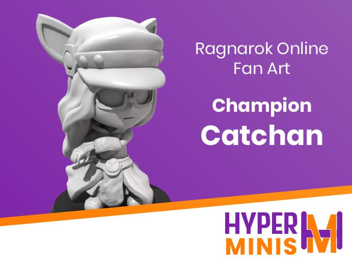 Chibi_Catchan_4.png Download free STL file Chibi Champion Catchan • 3D printable design, HyperMiniatures
